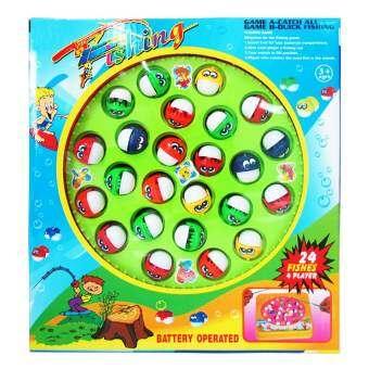 Play Us ตกปลา 24 ตัว+เบ็ด 4 คัน (กล่อง)-