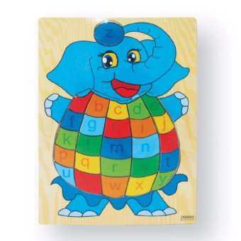 Play Usกระดานจิ๊กซอไม้  รูปช้าง รุ่นFW-1339-3(Multicolor)-