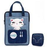 ขาย Plume Moon กระเป๋าถือ หญิง สำหรับ Ipad Air พร้อม กระเป๋าใส่เหรียญ ผ้ายีนส์ น้ำเงิน ฟ้า ออนไลน์ ไทย