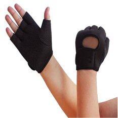 ขาย Plusslim ถุงมือ เอนกประสงค์ กีฬา ฟิตเนต จักรยาน และอื่นๆ สีดำ ไทย ถูก