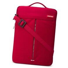 Pofoko Stylish 13 3 Inch Portable One Shoulder Quality Nylon Fabric Waterproof Laptop Bag For Laptop Notebook Red ใน กรุงเทพมหานคร
