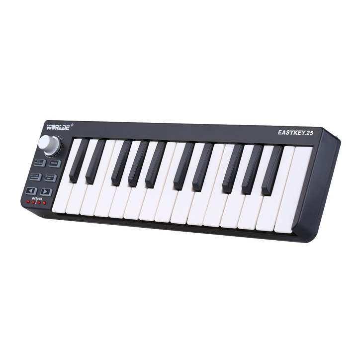 portable mini 25 key usb midi keyboard controller with usb cable. Black Bedroom Furniture Sets. Home Design Ideas