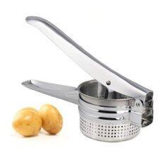 ซื้อ Portable Stainless Steel Manual Potato Masher Ricer Fruit Juice Vegetable Press Silver Unbranded Generic ถูก