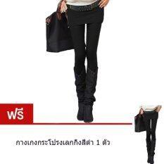 ขาย Prembee Skirt Leggings กางเกงกระโปรงเลกกิ้งทรงเอเข้ารูป สีดำ แถมฟรีสีดำ1ตัว ใน ไทย