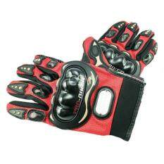 Pro Biker ถุงมือมอเตอร์ไซค์ สนับแข็ง เต็มนิ้ว สีแดง ไซส์ XL จำนวน 1 คู่