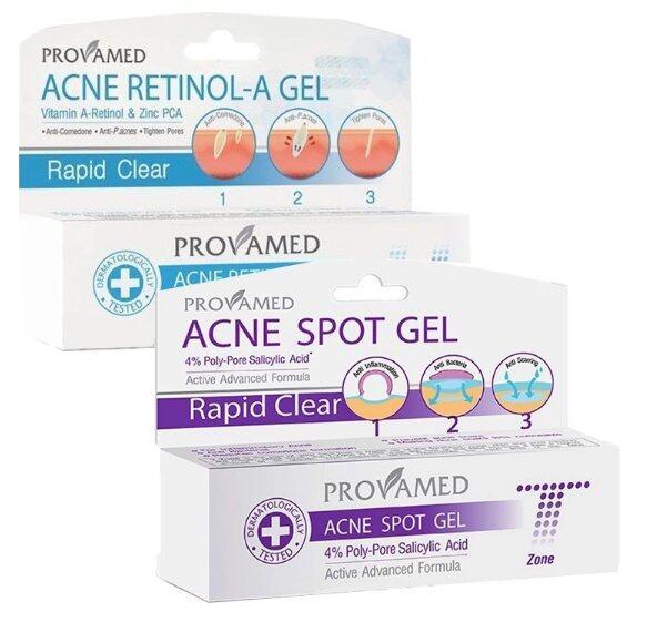 Review Provamed Acne Spot Gel เจลแต้มสิว (T-Zone) 10g + Provamed Acne Retinol-A Gel เจลแต้มสิว (U-Zone) 10g แนะนำใช้ดีจริง