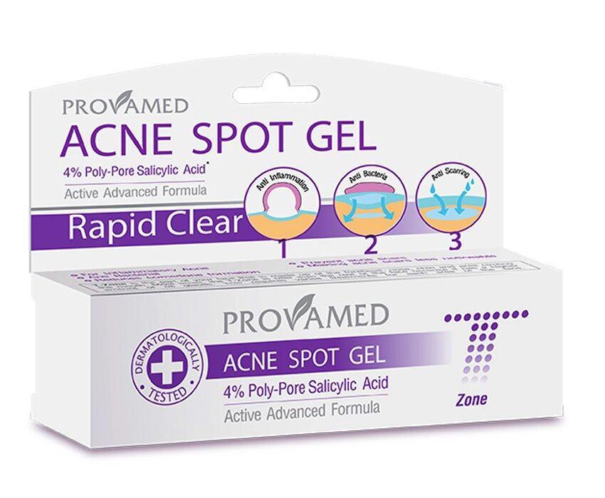 ลดราคาต่ำสุดฉลองยอดขาย Provamed Rapid Clear Acne Spot Gel 10G ครีมบำรุงให้หน้าขาวที่ดีที่สุด