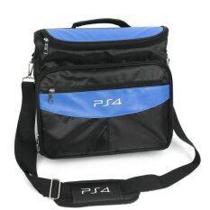 PS4 BAG กระเป๋าสะพาย PS4 (สีดำ/ฟ้า)