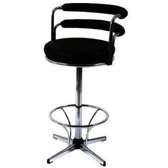 PT เก้าอี้บาร์สูง เบาะหุ้มหนัง รุ่น CC77 (สีดำ)