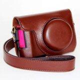 ซื้อ Pu Leather Camera Bag Case Cover For Casio Zr1000 Zr1100 Zr1200 Zr1500 Camera Cover Pouch With Shoulder Strap Coffee ถูก ใน จีน