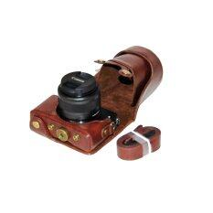 ส่วนลด Pu Leather Camera Case For Canon Eos M10 15 45 Lens Coffee