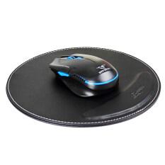 ส่วนลด Pu Leather Round Mousemat Anti Slip Mice Mouse Pad Mat Wrist Support Rest Mousepad Black Unbranded Generic