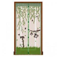 ซื้อ Punpuntoys ม่านประตูแถบแม่เหล็กกันยุง แม่เหล็ก 7 จุด ลายลิงน้อย สีเขียว ถูก