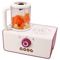 Qooc 4 In 1 เครื่องนึ่งพร้อมปั่นอาหารทารก (สีขาว).