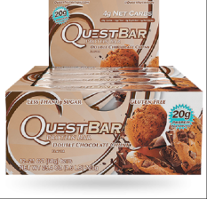 Quest Bar Double Chocolate Chunk 1 Box.