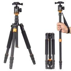 QZSD Q666 By 9FINAL With HeadBall Q-02 2 in 1 Tripod + Monopod For Canon Pentax Sony Olympus DSLR Camera