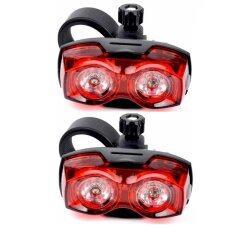 Raypal ไฟท้ายจักรยาน ไฟกระพริบ Raypal Two Eyes สีแดง แพ็คคู่ Raypal ถูก ใน กรุงเทพมหานคร