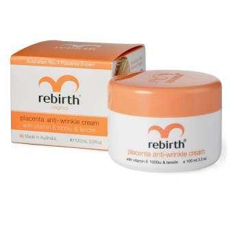 Rebirth Placenta & Vitamin E Day Cream ครีมรกแกะ 100g ( 1 กล่อง)
