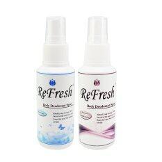 Refresh เปรย์ระงับกลิ่นกายรีเฟรช David Cool & Ferrari Black Series Perfume 60 Ml. (สีฟ้า/ดำ) แพ็ค 2 ขวด.