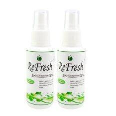 Refresh สเปรย์ระงับกลิ่นกาย 60 Ml. แพ็ค 2 ขวด.