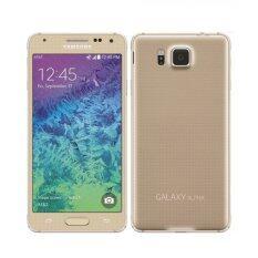 ราคา Refurbished Samsung Galaxy Alpha G850 Gold เป็นต้นฉบับ