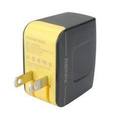 ซื้อ Remax Adapter Usb Charger 3 4A Output ชาร์จพร้อมกันได้ 2 ช่อง ฺblack