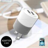 ซื้อ Remax Adapter Usb Charger Out Put 2 4A 2Usb Wp U04 Warrior White Remax ถูก