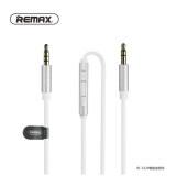 ทบทวน Remax Cable Smart Audio Rm S120 สาย Aux มีปุ่มกดเพิ่ม ลดเสียงที่สายได้ สีขาว