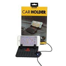 ซื้อ Remax Car Holder Charger แท่นวางโทรศัพท์ในรถยนต์พร้อมที่ชาร์จในตัว สีดำ ใน กรุงเทพมหานคร