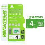 ราคา Remax หน่วยความจำ Micro Sd Card 4Gb Cl4 Green ใน Thailand