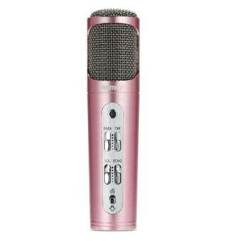 Remax Microphone Karaoke ไมโครโฟน ร้องเพลง คาราโอเกะ สำหรับ iPhone/Android รุ่น RMK-K02 (Pink)-