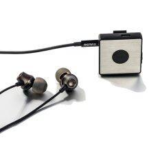 Remax รุ่น RB-S3 Sport Clip-On Bluetooth Headset พร้อมหูฟัง In-Ear (สีดำ)