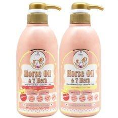 Remi Shampoo Horse Oil 7 Herb เรมิ แชมพูมหัศจรรย์ น้ำมันม้าฮอกไกโด ลดผมร่วง เร่งผมยาว 400 Ml Remi Treatment 400 Ml 1 ชุด ใน ไทย