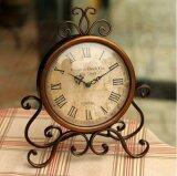 ขาย Retro Vintage Metal Clock Home Decoration Table Clock Ornament Battery Power Brown Intl ราคาถูกที่สุด