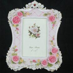 ราคา Retro Vintage Pink Rose Flower Home Decor Photo Frame Picture Frame Resin 4 X 6 Intl Unbranded Generic เป็นต้นฉบับ