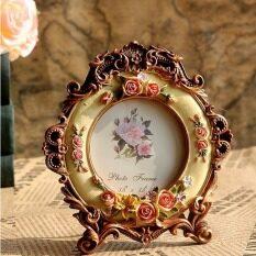 ขาย Retro Vintage Rose Flower Brown Home Decor Photo Frame Picture Frame Resin 3 5 Intl ใน จีน