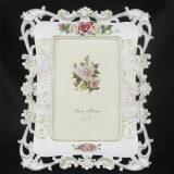 ราคา Retro Vintage Rose Flower White Home Decor Photo Frame Picture Resin 5 X 7 Intl จีน