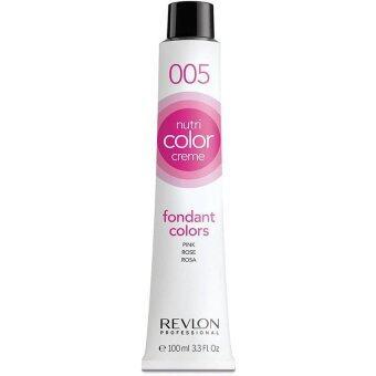 Revlon Nutri color crème ครีมเคลือบและบำรุงเส้นผมแบบหลอด เบอร์005 Pink สีชมพูอ่อน (100ml)