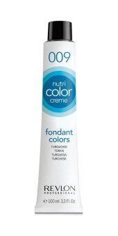 Revlon Nutri color crème ครีมเคลือบและบำรุงเส้นผมแบบหลอด เบอร์009Turquoise สีฟ้าน้ำทะเล (100ml)