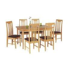 ขาย Rf Furniture ชุดโต๊ะอาหารไม้ยาง 6 ที่นั่ง สี ธรรมชาติ รุ่น Npt102Be เป็นต้นฉบับ