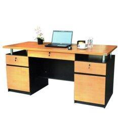 ขาย Rf Furniture โต๊ะบัญชีแชมเปญ รุ่น T 1675 สีเชอร์รี่ ดำ