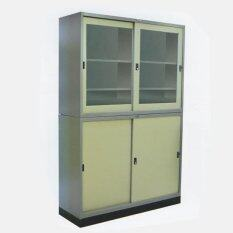 ขาย ซื้อ Rf Furniture ตู้เอกสารเหล็กบานเลื่อน2ชั้นบน ล่าง ขนาด90ซม รุ่น Rf 3 สีเทา ครีม ใน กรุงเทพมหานคร