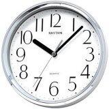 โปรโมชั่น Rhythm นาฬิกาแขวนผนัง พร้อมขาตั้งโต๊ะ รุ่น Cmg890Er19 สีเงิน Rhythm