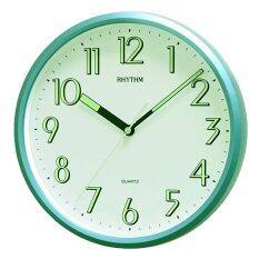 ซื้อ Rhythm นาฬิกาแขวนผนัง ตัวเลขมีพรายน้ำ รุ่น Cmg727Nr05 สีบอร์นเขียว Rhythm