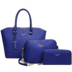 ขาย Richcoco 26 กระเป๋าถือผู้หญิง กระเป๋าสะพายข้าง กระเป๋าสตางค์ เซ็ต 3 ใบ สีน้ำเงิน ถูก ใน กรุงเทพมหานคร