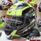 ซื้อ Rider Helmet หมวกกันน็อค Rider Viper Beat สีดำ เหลืองสะท้อนแสง Black Fluorecent Big Bike And Motorcycle Helmet Rider เป็นต้นฉบับ
