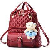 ราคา Rocklife 3 In 1 Women Bag Top Handle Bag Women Backpack กระเป๋าสะพายไหล่ กระเป๋าเป้สะพายหลัง Red Rocklife เป็นต้นฉบับ