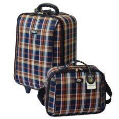 ราคา Romar Polo กระเป๋าเดินทาง 20 14 นิ้ว เซ็ทคู่ Code 373 12 Scott Blue Orange ออนไลน์ Thailand