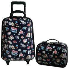 ราคา Romar Polo กระเป๋าเสื้อผ้า กระเป๋าเดินทาง กระเป๋าล้อลาก Polo ขนาด18 นิ้ว 2 ใบ ชุด เป็นต้นฉบับ