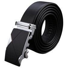 ราคา Rondaful Black Men S Genuine Leather Automatic Buckle Belts Fashion Waist Strap Belt Waistband เป็นต้นฉบับ